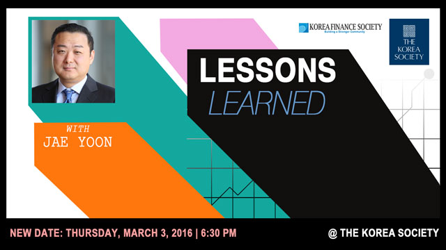Lessons Learned with Jae Yoon