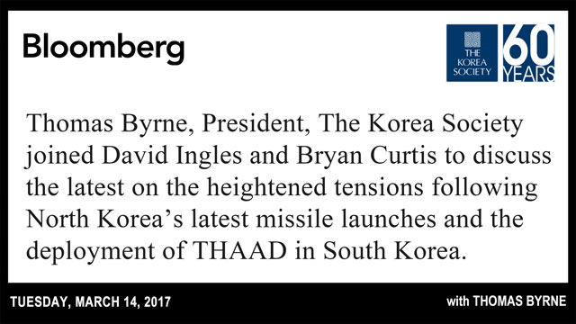 North Korea's latest missile launches and the deployment of THAAD in South Korea.